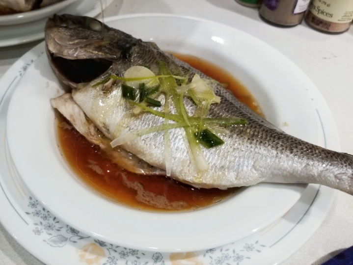 steamed whole fish, ready to eat