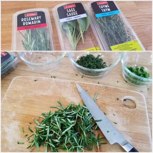 image: mincing herbs