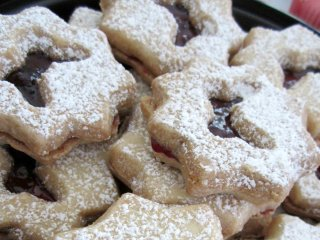 Linzer butterfly cookies