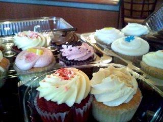 closeup view of cupcakes