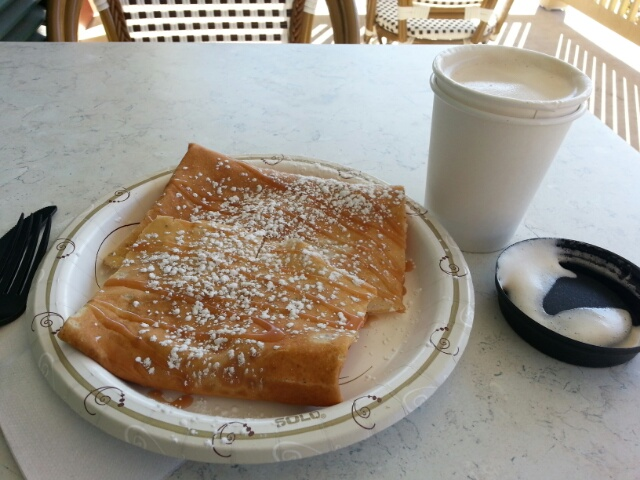 autumn apple crepe and gingerbread chai at the French Twist Cafe