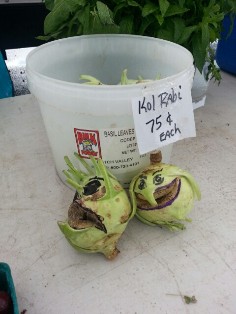 kohlrabi faces