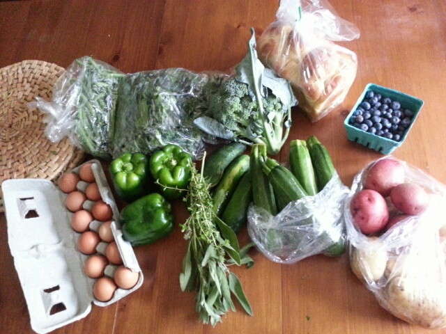 summer CSA, week 5 pickup