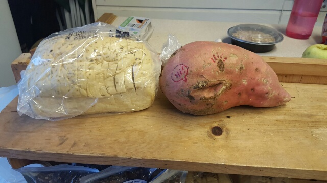 this huge potato is such a sweetie