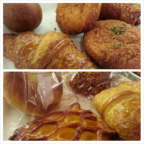 baked goods from Tous les Jours